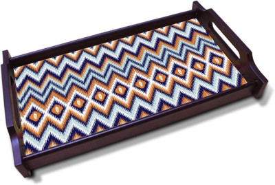 Kolorobia Chevron Rich Solid Wood Tray