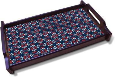 Kolorobia Enchanting Denim Blue Solid Wood Tray