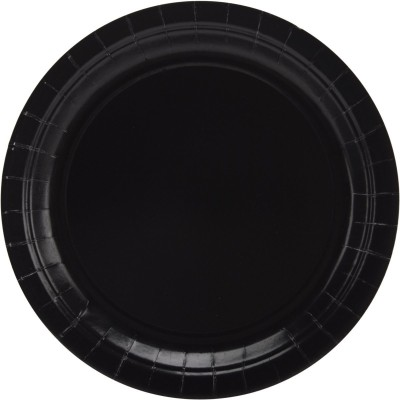 Amscan Big Party Pack Paper Luncheon Plates Solid Paper Plate(Black)