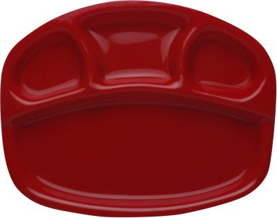 Starling Classic Red Solid Plastic Plate