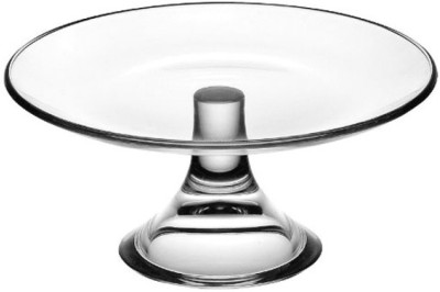 Ego Alter Banquet Footed Plate 21cm Embossed Glass Dish