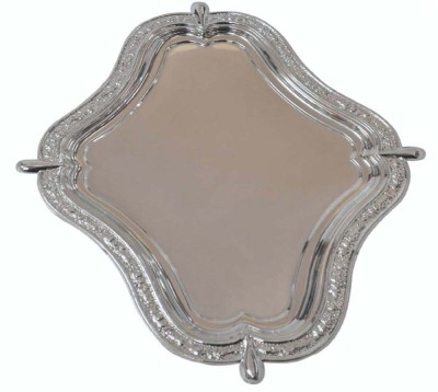 Sambhav Products Fancy Solid Silver Plated Tray