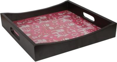 Art Potli Royal Pink Solid Wood Tray
