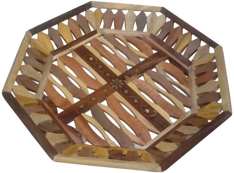 Impression Arts Sheesham & Teak Handmade Serving Solid Wood Tray(Multicolor, Pack of 1)