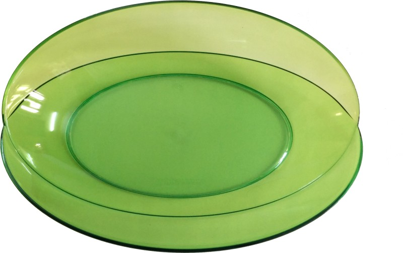 Tupperware Eleganzia Butterfly Server Solid Plastic Plate(Green, Pack of 1)