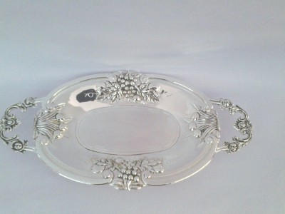 Eventz Gifts Royal oval toffee Solid Silver Plated Tray