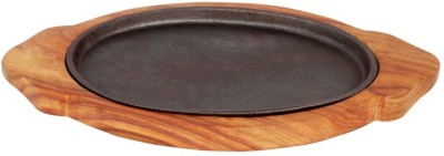 Shopper52 Large Solid Iron Solid Wood, Iron Tray