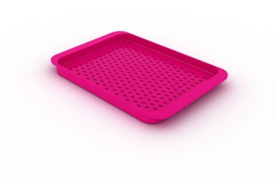 JosephJoseph Grip Serving Small Solid Plastic Tray(Pink, Pack of 1)