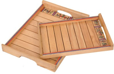 VarEesha Solid Wood Tray Set