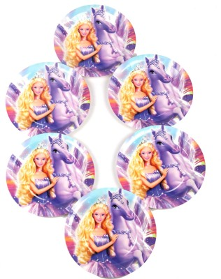 Funcart Riding Princess Theme 7 Inch Printed Paper Plate