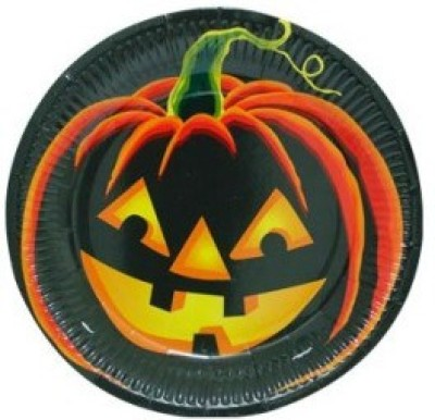 Smartcraft Pumpkin Halloween Solid Paper Plate