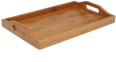 HomeStop Bamboo Small Tray Solid Bamboo Tray