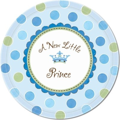 Amscan Little Prince Round 10.5 Inches Printed Paper Plate
