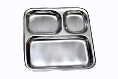 Dynore Pav Bhaji / Snacks Plate Solid Stainless Steel Plate Set