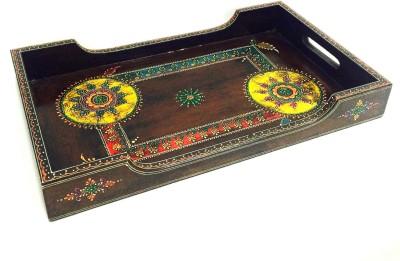 Shivay Arts Ethnic Embossed Wood Tray