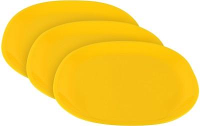 Ratan Plastics Olive Plate Square Solid Plastic Plate Set