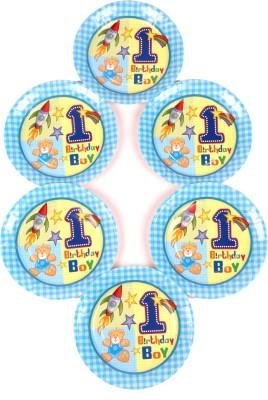 Funcart Fun At 1 Boy Theme 7 Inch Printed Paper Plate