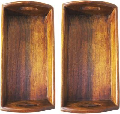 Raja Arts size 30 x 20 cm Solid Wood Tray