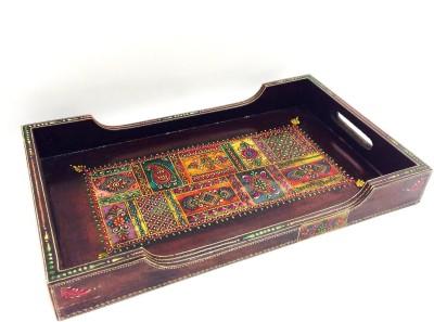 Shivay Arts Emboss Series Embossed Wood Tray