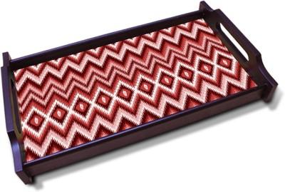 Kolorobia Rustic Chevron Solid Wood Tray