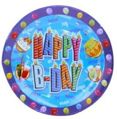 Smartcraft Happy Birthday Solid Paper Plate
