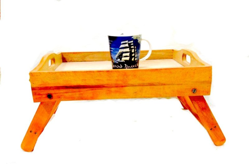 Alishba wooden tray Solid Wood Tray(Orange, Pack of 1)