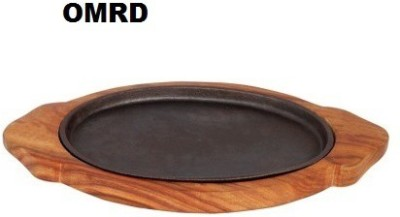 OMRD Sizzler Plate Oval With Cavity Extensively Tray(Pack of 1) at flipkart