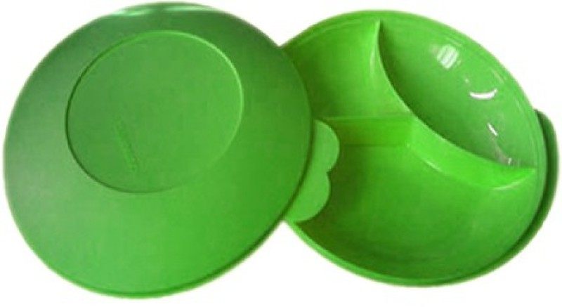 Tupperware Large Divided Solid Plastic Dish(Green, Pack of 1)