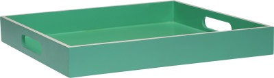 BACK TO EARTH Lacquer Square Tray Seagreen Solid Bamboo Tray