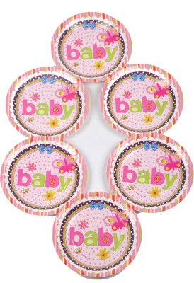 Funcart Butterfly Baby Theme 7 Inch Printed Paper Plate
