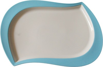 White Gold Eva Evergreen Assets 14 Inches Solid Porcelain Tray
