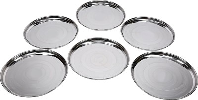 daksh enterprises Solid Stainless Steel Plate Set