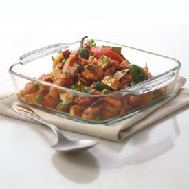 Borosil Square, 1.6 Litres… Solid Glass Dish