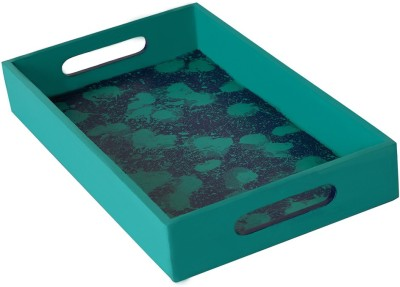 Rang Rage Color Droplets Classy Solid Wood Tray
