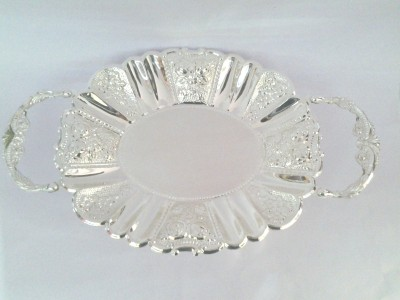 Eventz Gifts Royal oval Solid Silver Plated Tray