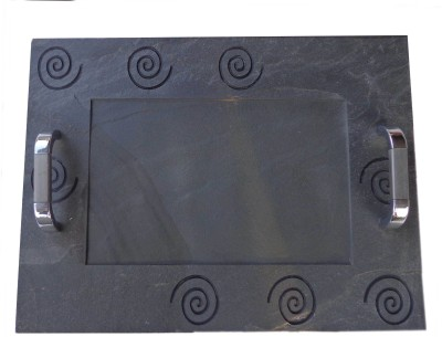 Niksang Arts Engraved Stoneware Tray