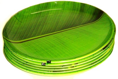 Wood & Kemp Smart Dinning Banana leaf 11.50 Inch full Printed Melamine Plate Set