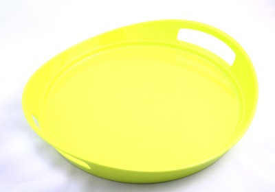 Ektra By Superware Circular Green Solid Melamine Tray