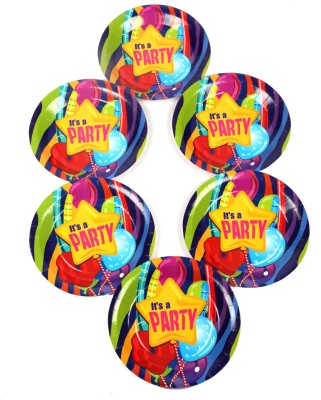 Funcart Fun & Frolic Party Theme 9 Inch Printed Paper Plate