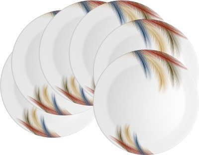 Mehul 11 Inch D-805 Sporty Dish Feather Touch 6 Pcs Printed Melamine Plate Set