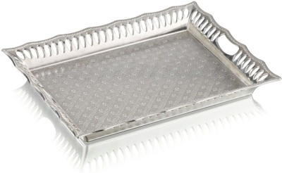 Sukhson India Parker Silver 3 Embossed Plastic Tray