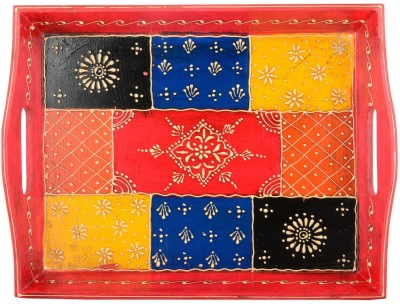 The Ethnic Story Painted Embossed Wood Tray