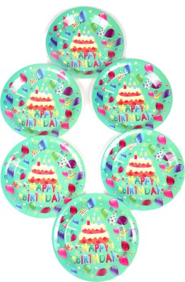 Funcart Frolic Birthday Theme 9 Inch Printed Paper Plate