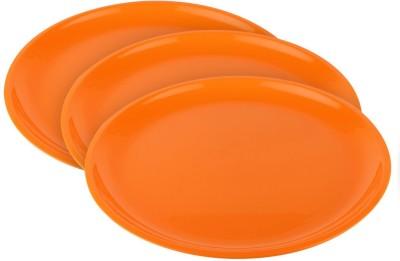 Ratan Plastics Olive Plate Round Solid Plastic Plate Set