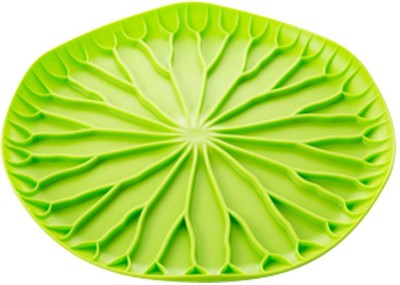 Evana Embossed Plastic Plate(Multicolor, Pack of 1) at flipkart