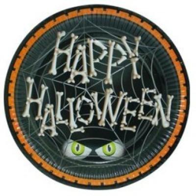 Smartcraft Happy Halloween Solid Paper Plate