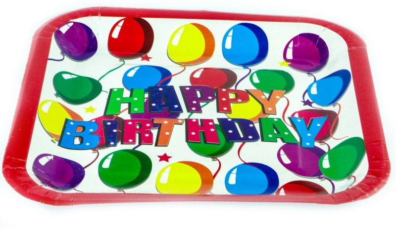 Ziggle Birthday Printed Paper Plate Set(Multicolor, Pack of 10)