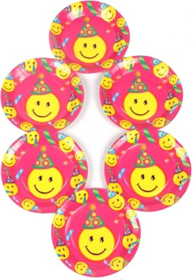 Funcart Smiley Theme Party Printed Paper Plate Set