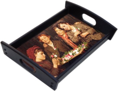 Phototech Serving Tray Colorvista Hammered Wood Tray