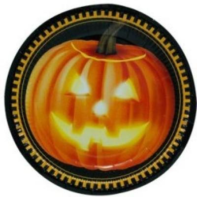 Smartcraft Halloween Fright Night Solid Paper Plate